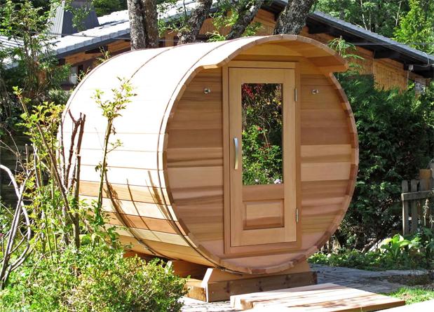 Le bien tre l 39 honneur au salon piscine spa 2013 for Sauna exterieur occasion