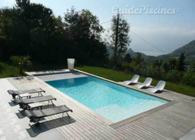 Photos de jardins bleus piscines desjoyaux for Piscine bois desjoyaux