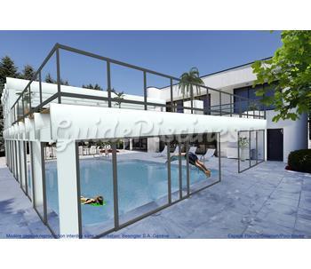 Abri piscine haut bois for Abri piscine bois