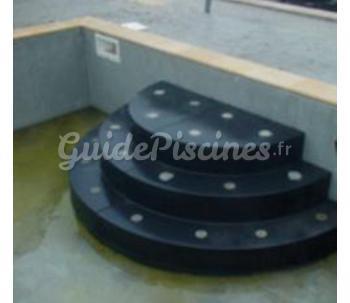 escaliers piscine sous liner. Black Bedroom Furniture Sets. Home Design Ideas