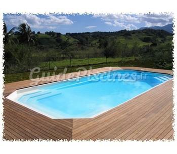 Piscines monocoque rectangle 10 m x 5 m for Piscine monocoque guadeloupe