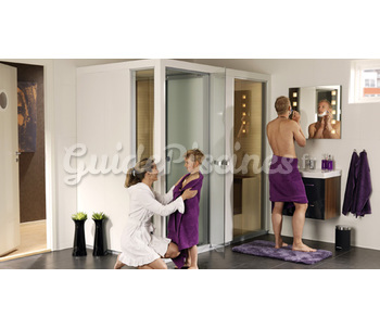 la cabine sauna hammam combin impression. Black Bedroom Furniture Sets. Home Design Ideas