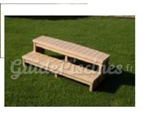 double marche arrondie 76cm pour spa. Black Bedroom Furniture Sets. Home Design Ideas