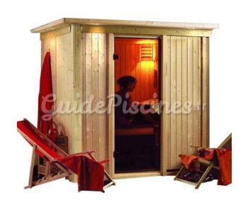 sauna lambris sodin avec po le a. Black Bedroom Furniture Sets. Home Design Ideas