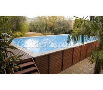 Piscine hors sol bois laghetto for Habillage bois piscine hors sol