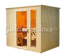 sauna lambris relax angle et po le 2 tailles. Black Bedroom Furniture Sets. Home Design Ideas